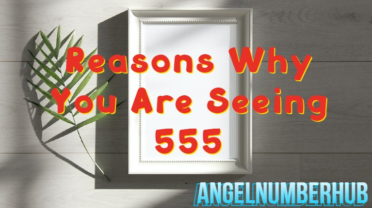 Reasons Why You Are Seeing 555
